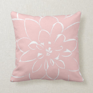 Dahlia Rose Quartz | Pink Flower Throw Pillow