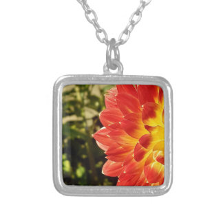 Dahlia Silver Plated Necklace