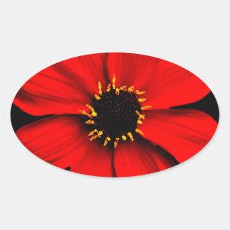 Dahlia Sticker Ovale