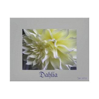 Dahlia Impression Sur Toile