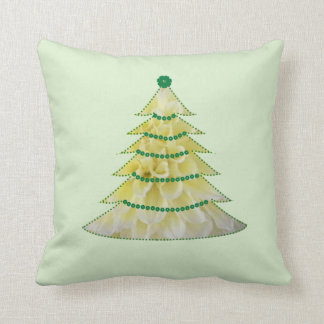 Dahlia Tree Throw Pillow
