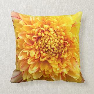 dahlia with yellow center throw pillow