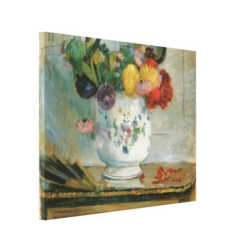 Dahlias by Berthe Morisot Wrapped Canvas Gallery Wrapped Canvas