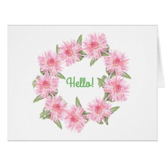 Dahlias Card