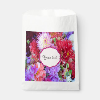 Dahlias colorés sachets en papier