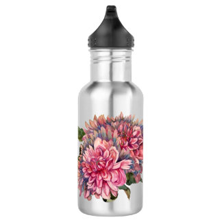 dahlias flowers 532 ml water bottle