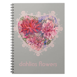 dahlias flowers notebook