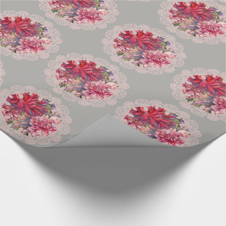 dahlias flowers wrapping paper