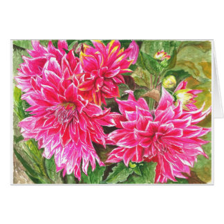 Dahlias in full bloom card