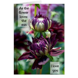 Dahlias In Love - Frameable Art Card