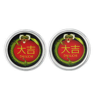 Dai Kichi Monogram Dragon Cufflinks