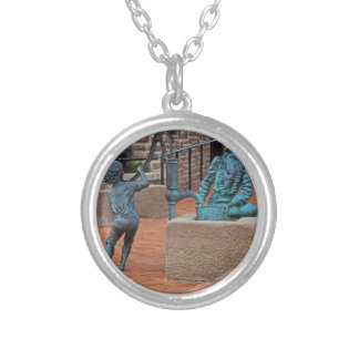 Daily Chores by Michael Tizzano Silver Plated Necklace