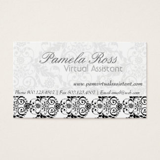 Daily Dose of Charm Elegant Modern  Royal Damask Business Card