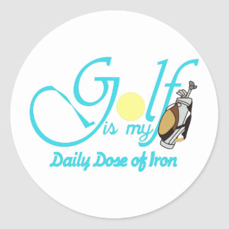 Daily Dose of Iron Classic Round Sticker