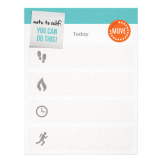Daily Exercise Tracker and/or Planner Letterhead