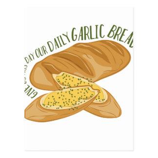 Daily Garlic Bread Postcard