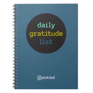 Daily Gratitude Journal Spiral Notebooks