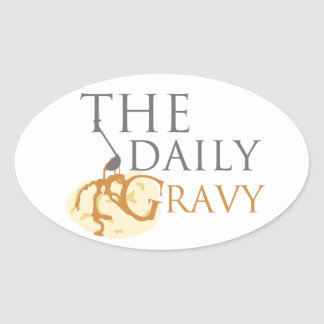 Daily Gravy Sticker But It's an Oval