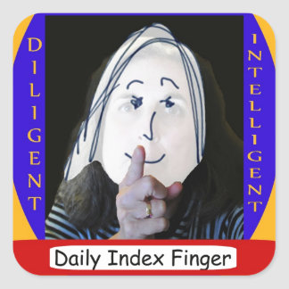 Daily Index Finger Award Square Sticker