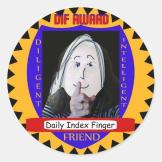 Daily Index Finger Award Sticker