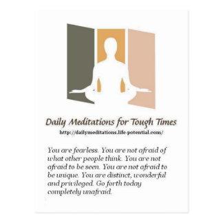 Daily Meditations Postcard