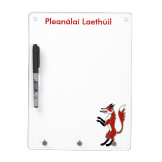 Daily Planner in Gaelic with fox Dry Erase White Board