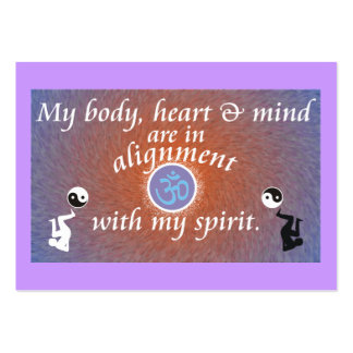 Daily Reminder - Body Alignment Business Cards
