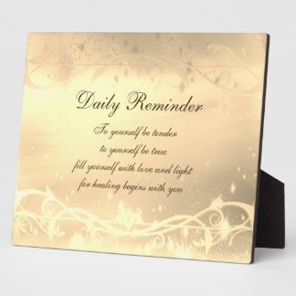 Daily Reminder Plaque