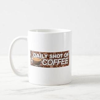 Daily Shot Of Coffee - My Blood Type Is Coffee Classic White Coffee Mug