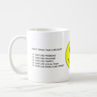 Daily Small Talk Checklist Mug