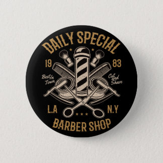 Daily Special Barber Shop Cut And Shave 2 Inch Round Button