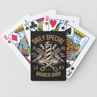 Daily Special Barber Shop Cut And Shave Bicycle Playing Cards