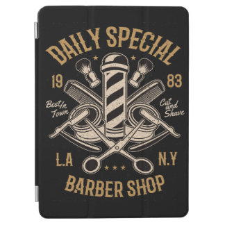 Daily Special Barber Shop Cut And Shave iPad Air Cover