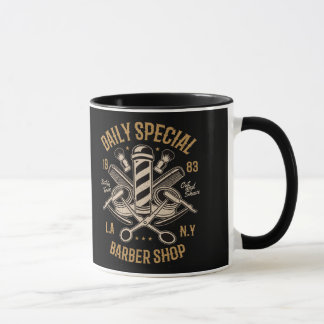 Daily Special Barber Shop Cut And Shave Mug