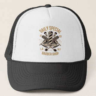 Daily Special Barber Shop Cut And Shave Trucker Hat