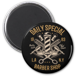 Daily Special Barber Shop LA NY Cut and Shave Magnet