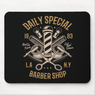 Daily Special Barber Shop LA NY Cut and Shave Mouse Pad