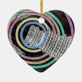 Daily Spin Ceramic Heart Ornament