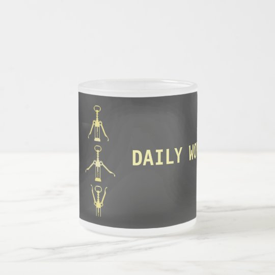 Daily Workout Humour Frosted Glass Mug