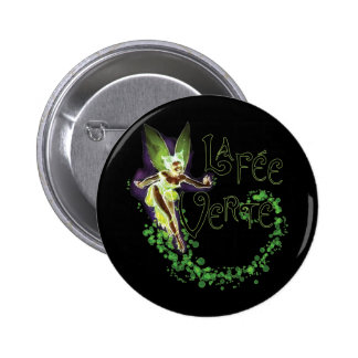 Dainty Absinthe La Fee Verte III 2 Inch Round Button
