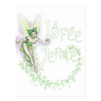 Dainty Absinthe La Fee Verte III Postcard