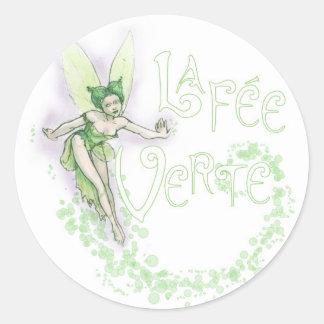 Dainty Absinthe La Fee Verte III Round Sticker