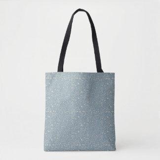 Dainty Blue Gray Simple Printed Pattern | Tote Bag
