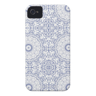 Dainty Blue Ornate Pattern Blackberry Cases
