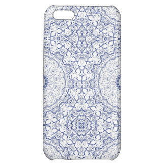 Dainty Blue Ornate Pattern Case For iPhone 5C
