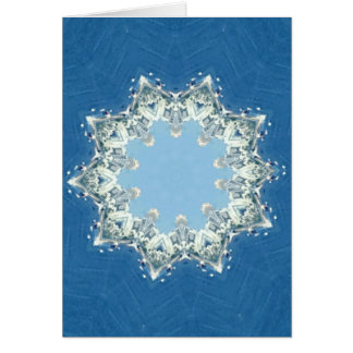 dainty Circular Shades Of Blue Card