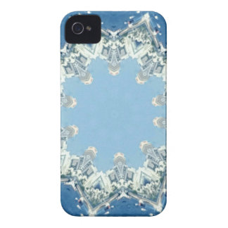 dainty Circular Shades Of Blue iPhone 4 Case