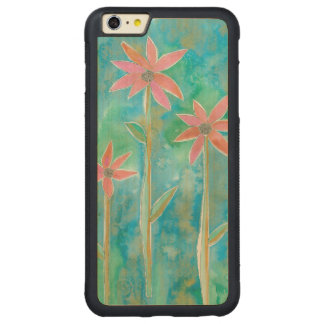 Dainty Daisies III Carved® Maple iPhone 6 Plus Bumper Case