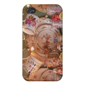 Dainty Flower Tea Party iPhone 4 Case