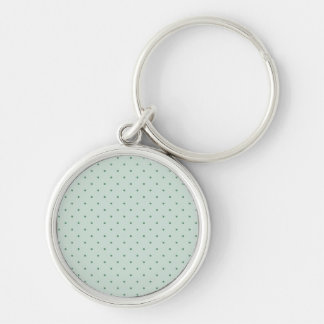 Dainty Green Polka Dots Pattern on a Lighter Green Keychain